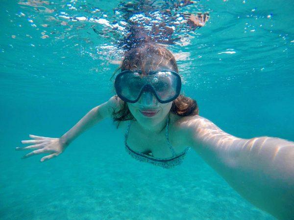 Selfie subacquei a La Pelosa di Stintino