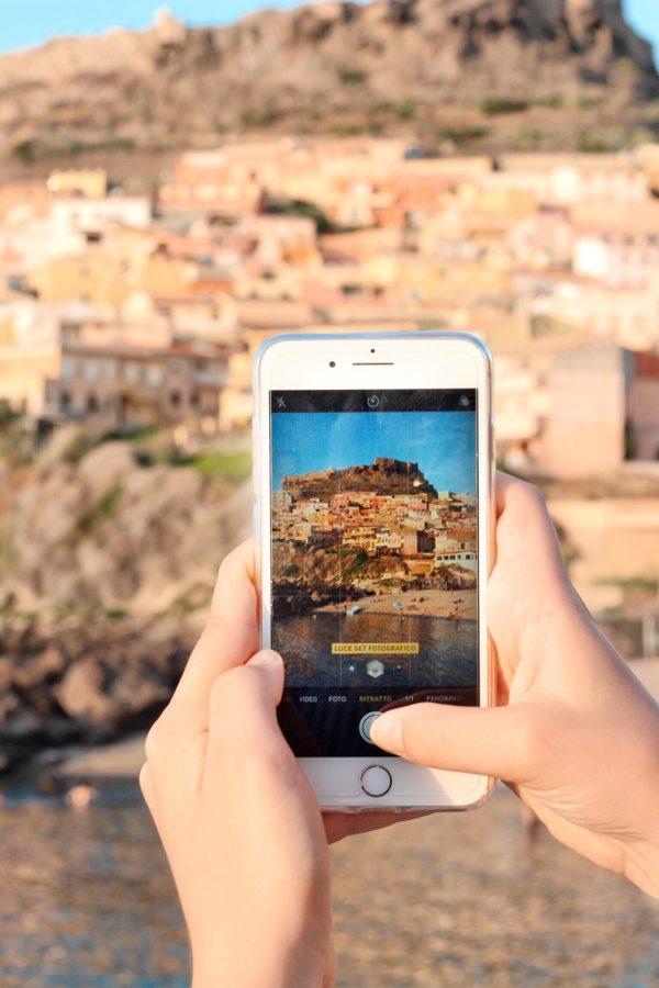 Istantanea di Castelsardo con lo smartphone