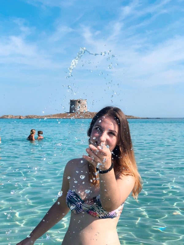 """La torre aragonese della Spiaggia """"La Pelosa"""" a Stintino"""