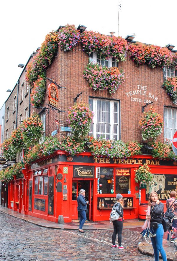 "La facciata del ""The Temple Bar"""