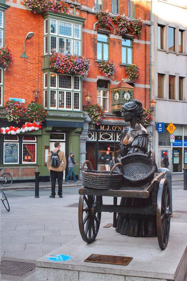 O'Neills Pub davanti alla statua di Molly Malone