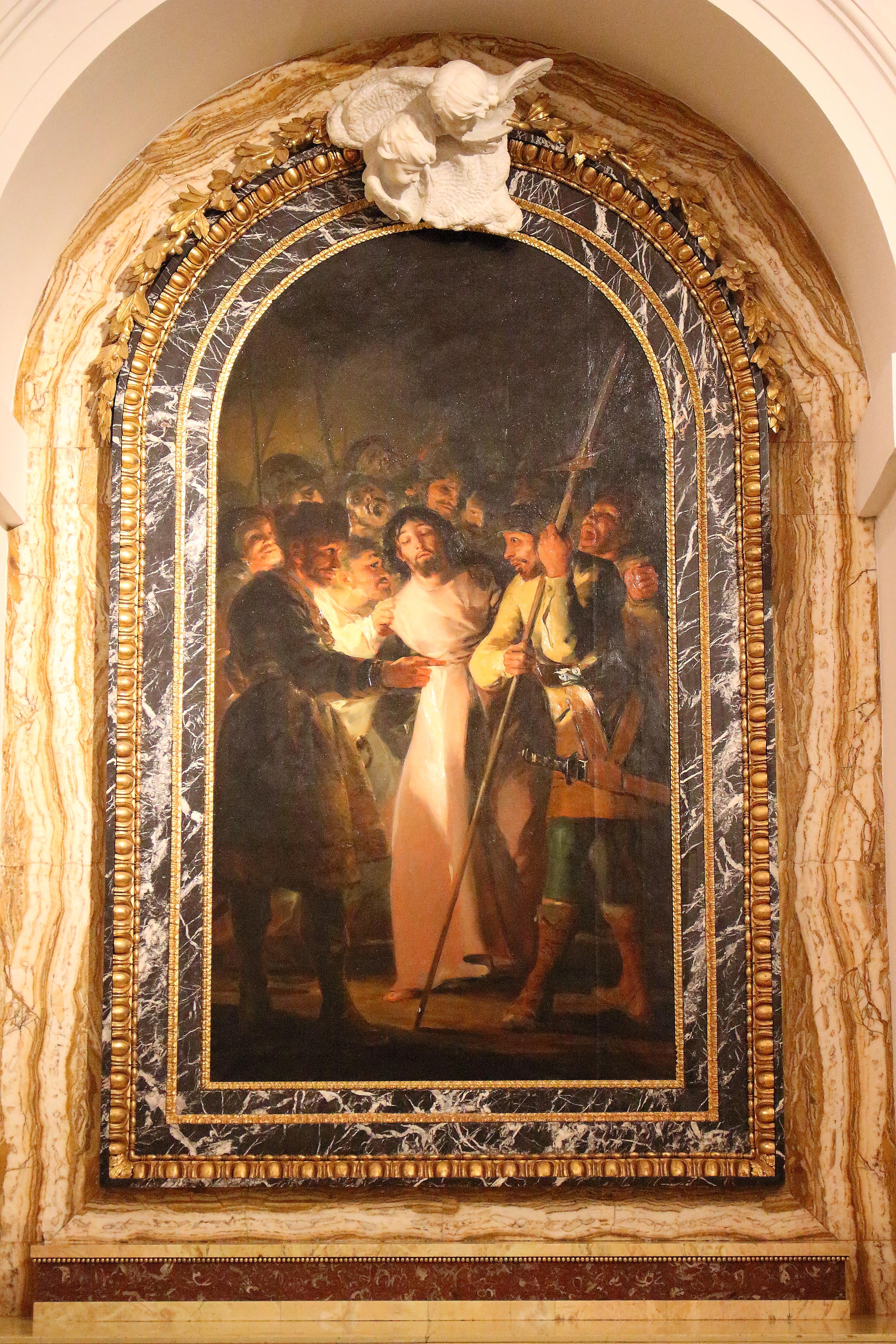 """""""La cattura di Cristo"""" di Goya, all'interno della Sacrestia"""