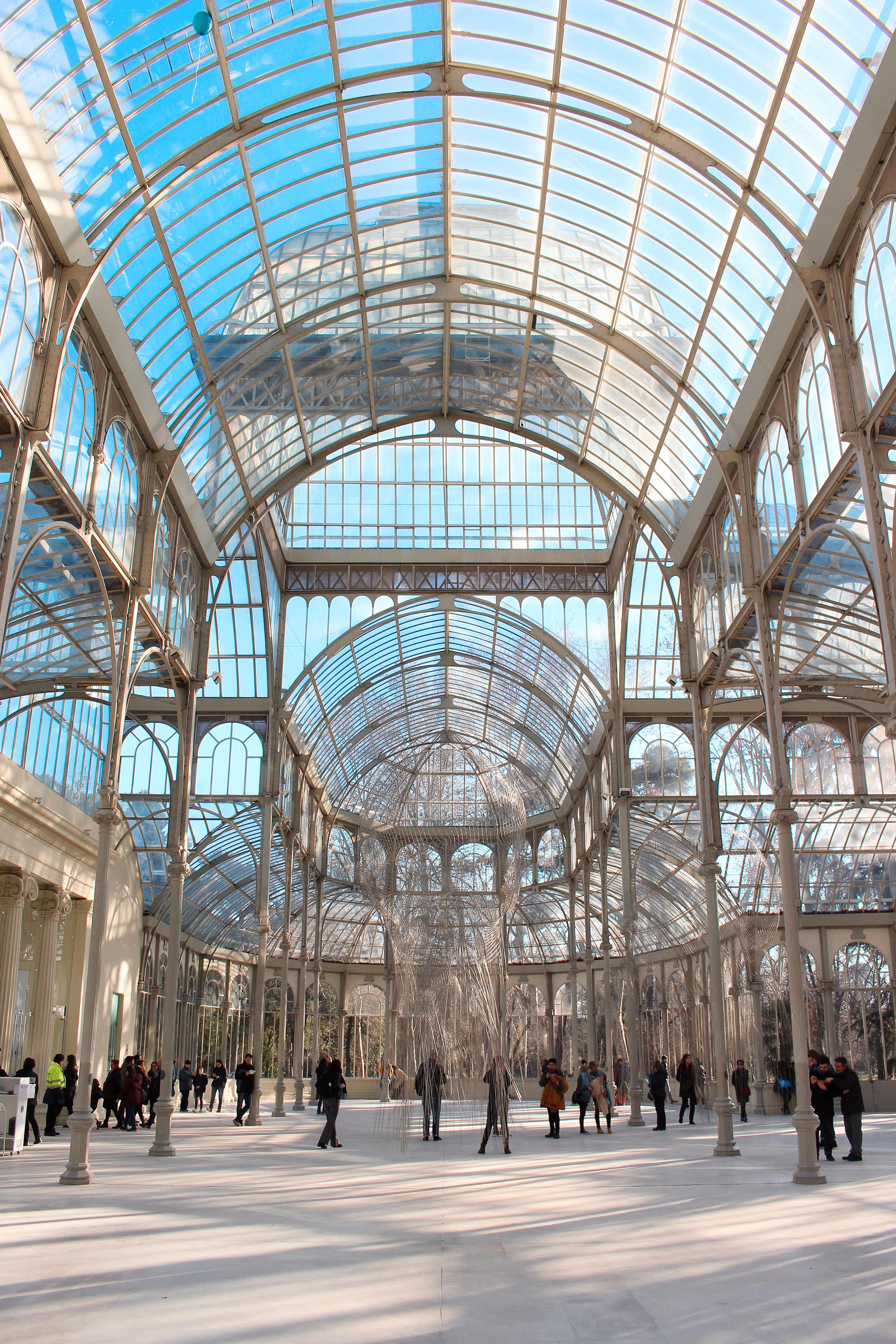 L'incredibile prospettiva all'interno del Palacio de Cristal