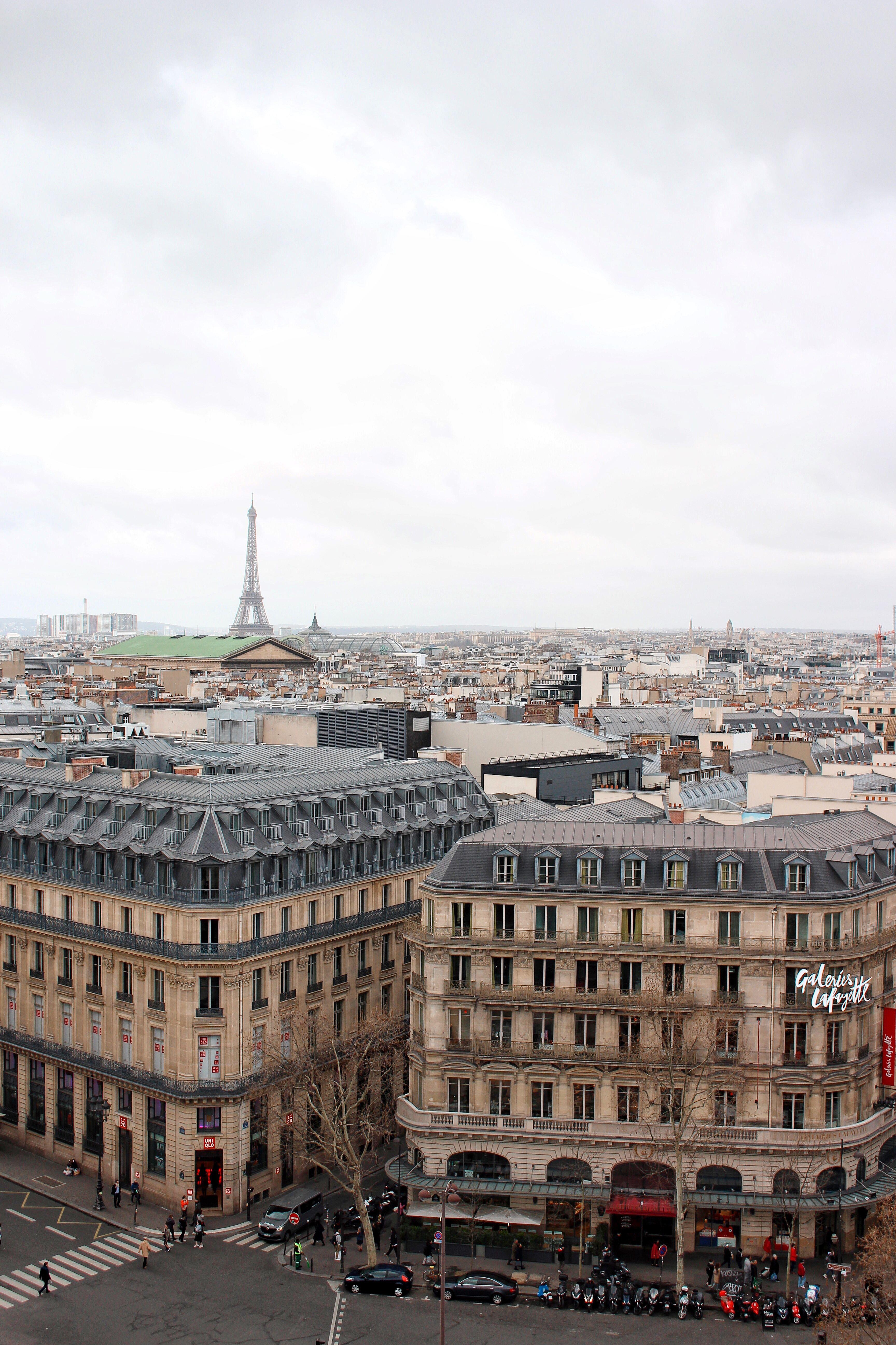 La vista dalla terrazza panoramica delle Galeries Lafayette