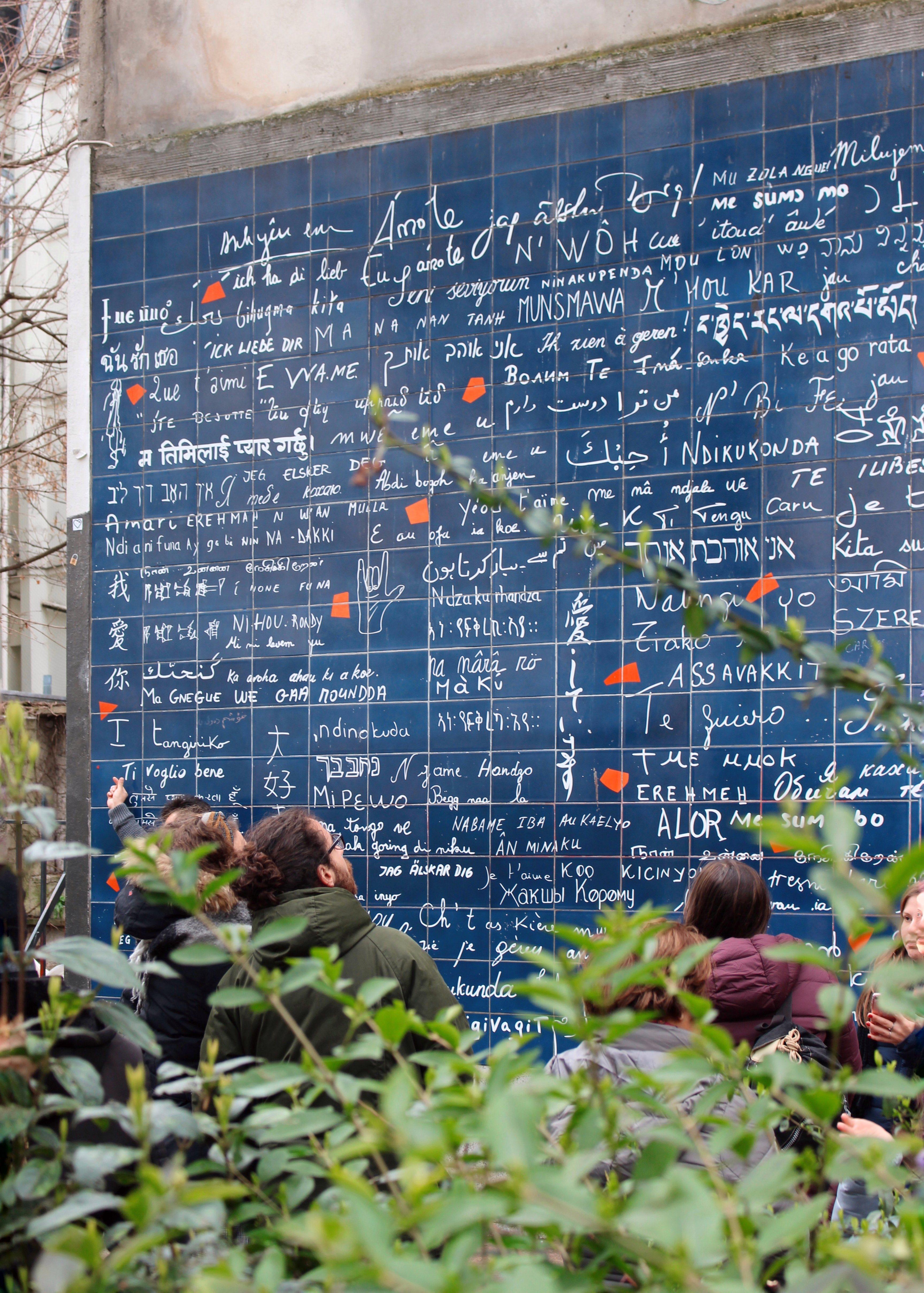 Le Mur de je t'aime - Rue des Abesses